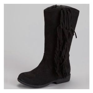 American Eagle Outfitters Suede Fringe Boots 2.5